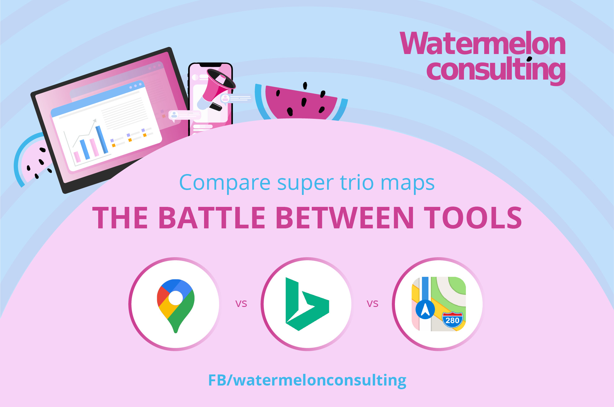 The Battle of the Tools – Compare Google Maps, Bing Maps and Apple Maps